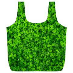 Shamrock Clovers Green Irish St  Patrick Ireland Good Luck Symbol 8000 Sv Full Print Recycle Bags (l)