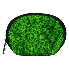 Shamrock Clovers Green Irish St  Patrick Ireland Good Luck Symbol 8000 Sv Accessory Pouches (medium)