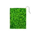 Shamrock Clovers Green Irish St  Patrick Ireland Good Luck Symbol 8000 Sv Drawstring Pouches (Small)  Front