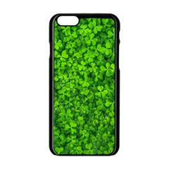 Shamrock Clovers Green Irish St  Patrick Ireland Good Luck Symbol 8000 Sv Apple Iphone 6/6s Black Enamel Case