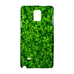 Shamrock Clovers Green Irish St  Patrick Ireland Good Luck Symbol 8000 Sv Samsung Galaxy Note 4 Hardshell Case