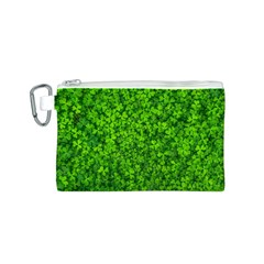 Shamrock Clovers Green Irish St  Patrick Ireland Good Luck Symbol 8000 Sv Canvas Cosmetic Bag (s)