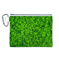 Shamrock Clovers Green Irish St  Patrick Ireland Good Luck Symbol 8000 Sv Canvas Cosmetic Bag (l)