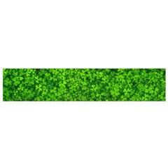 Shamrock Clovers Green Irish St  Patrick Ireland Good Luck Symbol 8000 Sv Flano Scarf (small)
