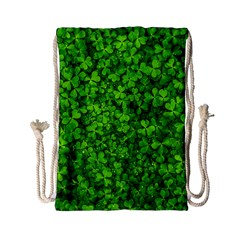 Shamrock Clovers Green Irish St  Patrick Ireland Good Luck Symbol 8000 Sv Drawstring Bag (small)
