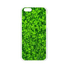 Shamrock Clovers Green Irish St  Patrick Ireland Good Luck Symbol 8000 Sv Apple Seamless iPhone 6/6S Case (Transparent)