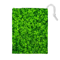 Shamrock Clovers Green Irish St  Patrick Ireland Good Luck Symbol 8000 Sv Drawstring Pouches (extra Large)