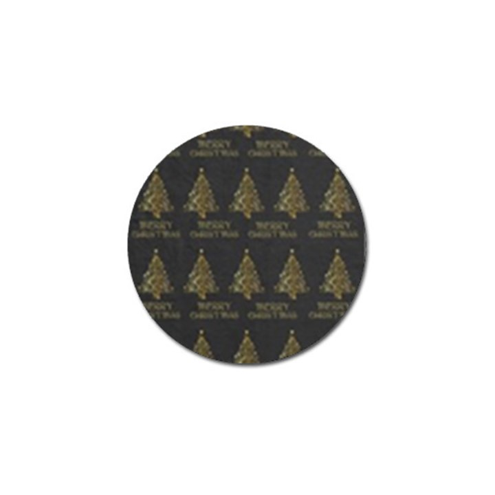 Merry Christmas Tree Typography Black And Gold Festive Golf Ball Marker