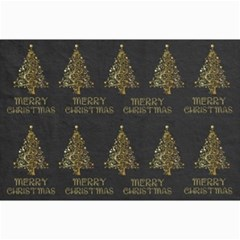Merry Christmas Tree Typography Black And Gold Festive Collage Prints