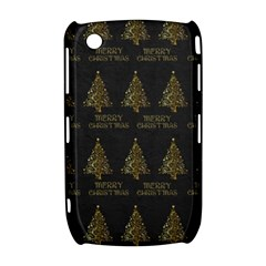 Merry Christmas Tree Typography Black And Gold Festive Curve 8520 9300