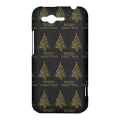 Merry Christmas Tree Typography Black And Gold Festive HTC Rhyme