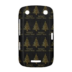 Merry Christmas Tree Typography Black And Gold Festive BlackBerry Curve 9380