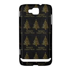 Merry Christmas Tree Typography Black And Gold Festive Samsung Ativ S i8750 Hardshell Case