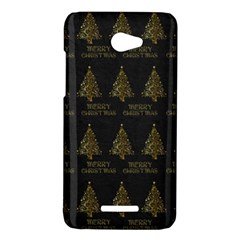 Merry Christmas Tree Typography Black And Gold Festive HTC Butterfly X920E Hardshell Case