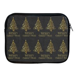 Merry Christmas Tree Typography Black And Gold Festive Apple iPad 2/3/4 Zipper Cases