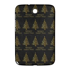 Merry Christmas Tree Typography Black And Gold Festive Samsung Galaxy Note 8.0 N5100 Hardshell Case