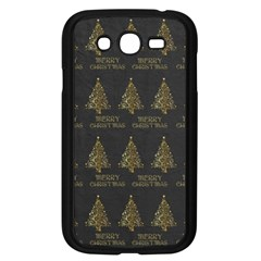 Merry Christmas Tree Typography Black And Gold Festive Samsung Galaxy Grand DUOS I9082 Case (Black)