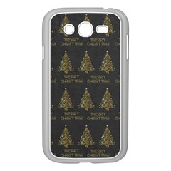 Merry Christmas Tree Typography Black And Gold Festive Samsung Galaxy Grand DUOS I9082 Case (White)