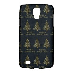 Merry Christmas Tree Typography Black And Gold Festive Galaxy S4 Active