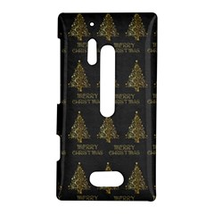 Merry Christmas Tree Typography Black And Gold Festive Nokia Lumia 928
