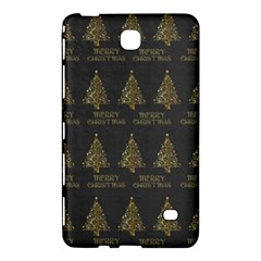 Merry Christmas Tree Typography Black And Gold Festive Samsung Galaxy Tab 4 (7 ) Hardshell Case