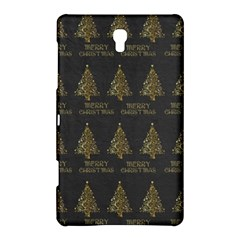 Merry Christmas Tree Typography Black And Gold Festive Samsung Galaxy Tab S (8.4 ) Hardshell Case