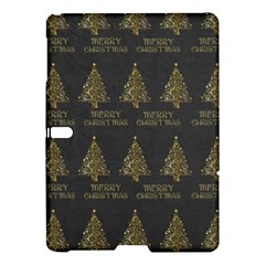 Merry Christmas Tree Typography Black And Gold Festive Samsung Galaxy Tab S (10 5 ) Hardshell Case