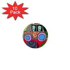 Tractor 1  Mini Buttons (10 pack)