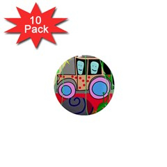 Tractor 1  Mini Magnet (10 pack)