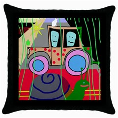 Tractor Throw Pillow Case (Black)