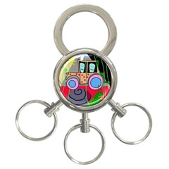 Tractor 3-Ring Key Chains