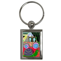 Tractor Key Chains (Rectangle)