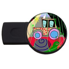 Tractor USB Flash Drive Round (1 GB)