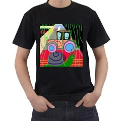 Tractor Men s T-Shirt (Black) (Two Sided)