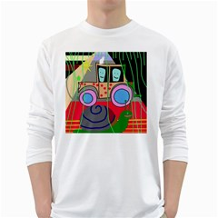 Tractor White Long Sleeve T-Shirts