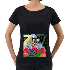 Tractor Women s Loose-Fit T-Shirt (Black)