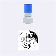 Tractor Rubber Round Stamps (Small)