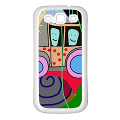 Tractor Samsung Galaxy S3 Back Case (White)