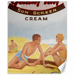 Vintage Summer Sunscreen Advertisement Canvas 16  x 20