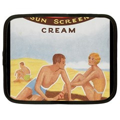 Vintage Summer Sunscreen Advertisement Netbook Case (Large)