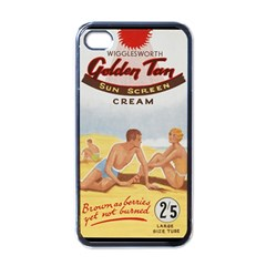 Vintage Summer Sunscreen Advertisement Apple iPhone 4 Case (Black)