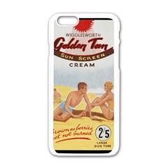 Vintage Summer Sunscreen Advertisement Apple iPhone 6/6S White Enamel Case