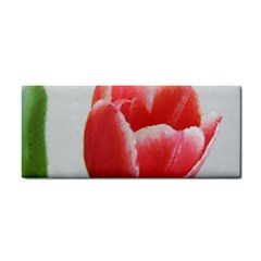 Red Tulip Watercolor Painting Hand Towel