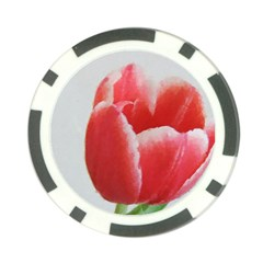 Red Tulip Watercolor Painting Poker Chip Card Guards (10 pack)