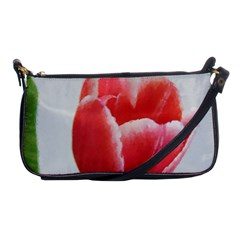 Red Tulip Watercolor Painting Shoulder Clutch Bags