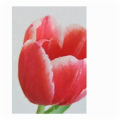 Red Tulip Watercolor Painting Small Garden Flag (Two Sides)