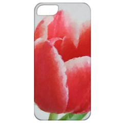 Red Tulip Watercolor Painting Apple iPhone 5 Classic Hardshell Case