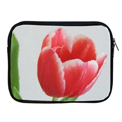 Red Tulip Watercolor Painting Apple iPad 2/3/4 Zipper Cases