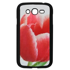 Red Tulip Watercolor Painting Samsung Galaxy Grand DUOS I9082 Case (Black)