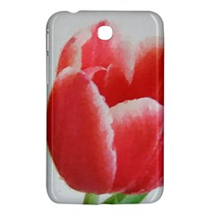 Red Tulip Watercolor Painting Samsung Galaxy Tab 3 (7 ) P3200 Hardshell Case